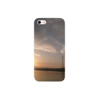 夕焼け 海 Smartphone cases