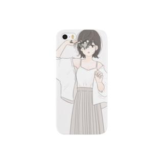 淡い色が似合うあの子 Smartphone cases