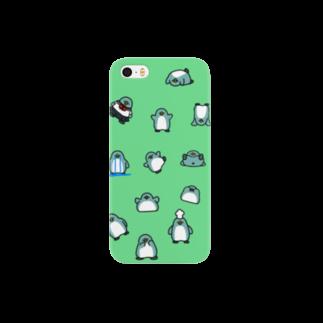 ちょこぺんのちらばるいろんなペンギン Smartphone cases