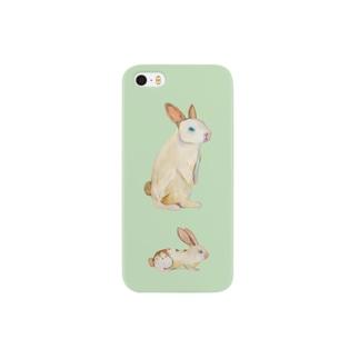 どこ向くウサギ Smartphone cases