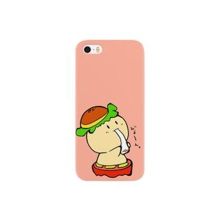 バーガーさん、お餅を食べる Smartphone cases