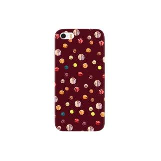 あめだまのパターン Smartphone cases