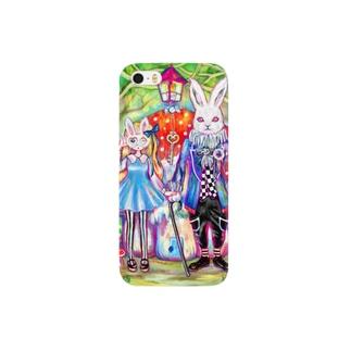 ウサギ男爵と女の子 Smartphone cases