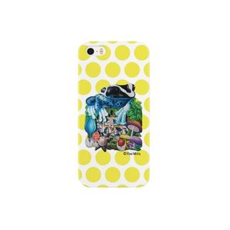 カエルいた!(黄色ドット)iPhone5/S5用 Smartphone cases