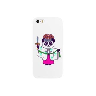 パンダ巫女 舞姿 Smartphone cases