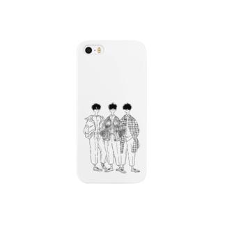 白シャツとワイドパンツ Smartphone cases