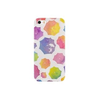 傘の花が咲いた Smartphone cases