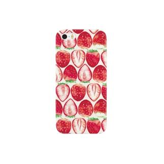 いちご柄iPhoneケース Smartphone cases