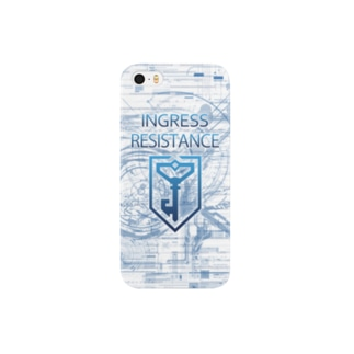 INGRESS RESISTANCE Blue  スマートフォンケース