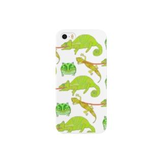 爬虫類たち Smartphone cases
