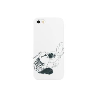 よっぱらいモノクロ Smartphone cases