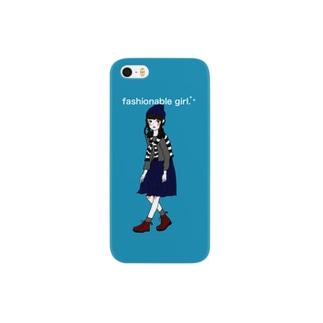 お洒落な女の子。スマートフォンケース Smartphone cases