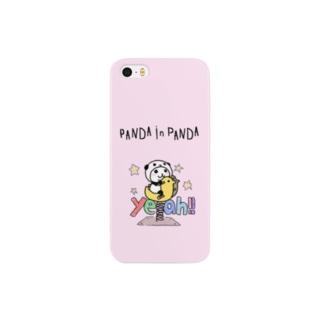 パンダinぱんだ(yeah!!) Smartphone cases