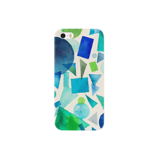 KIMAGUREちゃんの気まぐれ店のBlue normal  Smartphone cases