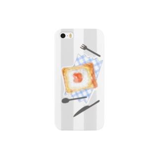 マヨたまトースト×ボーダー Smartphone cases