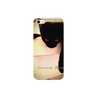Cocoa Rose  黒猫 Smartphone cases