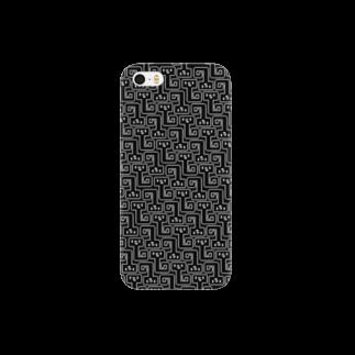 uchukunのNYOROGRAM-BK Smartphone cases