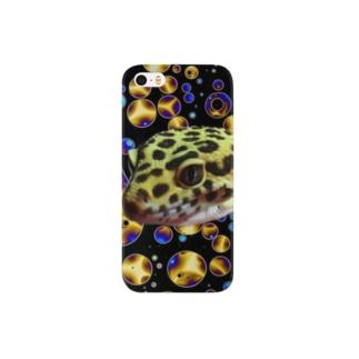 トカゲモドキ レオパードゲッコー Smartphone cases