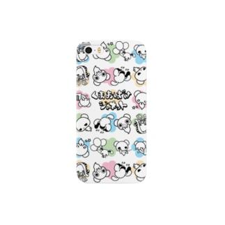 くまおばけケース(花) Smartphone cases