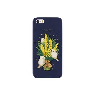 ミモザとアザラシ・ケース Smartphone cases