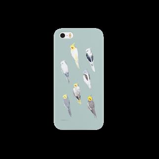 黄菊しーくのオカメインコ 7colorsスマートフォンケース