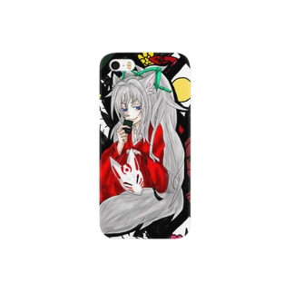 花札狐のiPhoneケース Smartphone cases