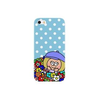 ドット✖︎フラワー Smartphone cases