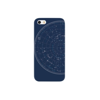 時廻る星図(紫紺) Smartphone cases