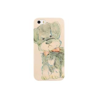 Hanatareのシュナウザー Smartphone cases