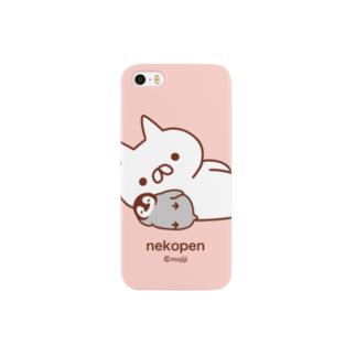 もじじのねこぺん(ぴんく) Smartphone cases