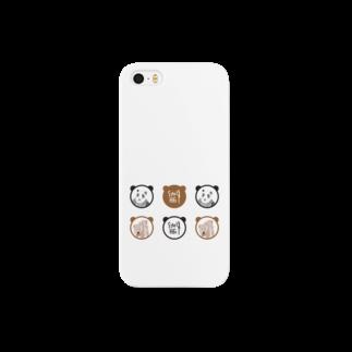 ★いろえんぴつ★のパンダとくま スマートフォンケース