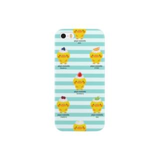 piyo-sweets (水色) Smartphone cases