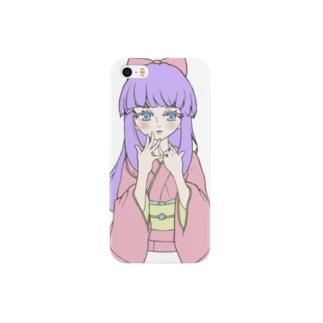 パステル着物少女 Smartphone cases