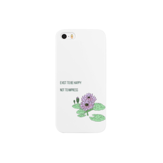 chicheekiのExist to be happy (wh) Smartphone cases