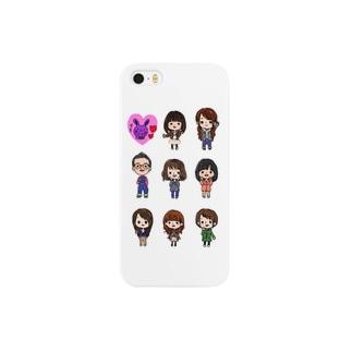 waruguchiFRIENDS 白 Smartphone cases