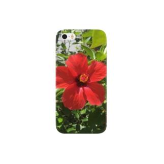 ハイビスカス柄スマホケース(iPhone 5/5s/SE) Smartphone cases