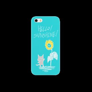 ちゃぷてのひまわりねこ Smartphone cases