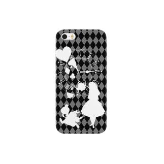 不思議な国のアリス(モノクロ) Smartphone cases