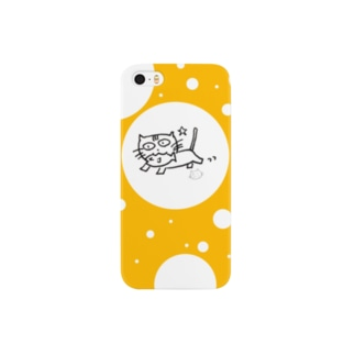 ましねこ!|お魚 de ゴキゲン☆(バナナイエロー) Smartphone cases