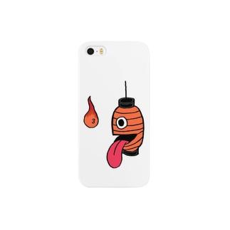 日本の妖怪&スピリチュアルの提灯お化け✖︎火の玉 Smartphone cases