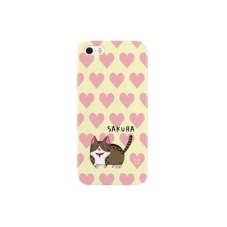 iPhone5用[佐藤家ペットシリーズ] ハートとさくらちゃん Smartphone cases