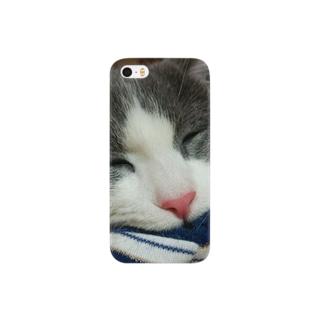 *猫シリーズ*爆睡💤銀次郎 Smartphone cases
