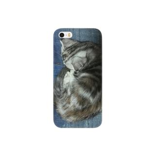 *猫シリーズ*マロマロお寝んね中💤 Smartphone cases