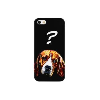 疑問を抱く犬 Smartphone cases