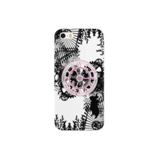 時計とうさぎ(ピンク) スマートフォンケース