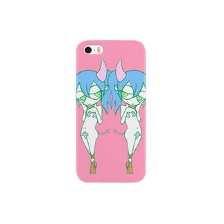 双子悪魔ちゃん(淡) Smartphone cases