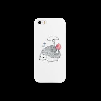 白井まめのきのこ と はりねずみ Smartphone cases