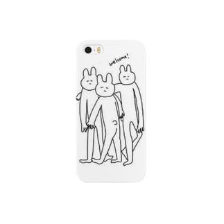 脚長うさぎちゃん Smartphone cases