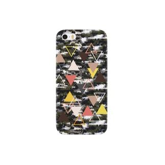 迷彩&三角モチーフ3 Smartphone cases
