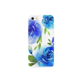 水彩風フラワー Smartphone cases